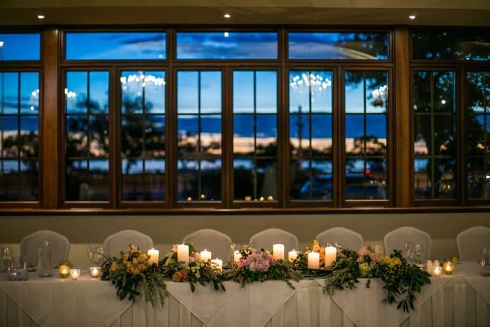 Enjoy your wedding reception at the Pagoda Ballroom.