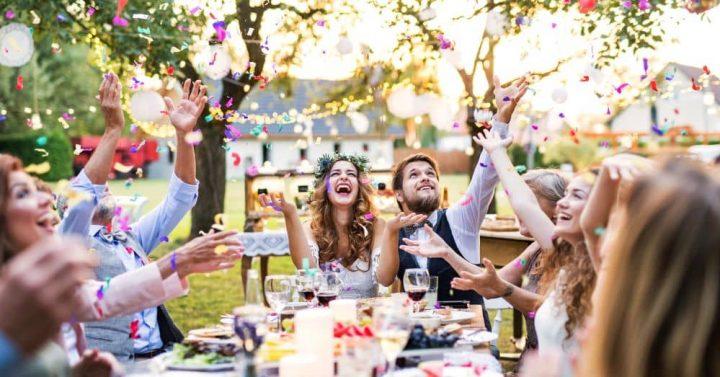 Bride and Groom wedding celebration