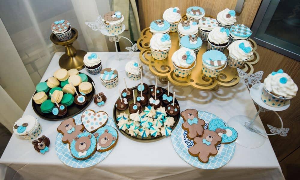 Birthday party dessert table.